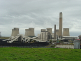A side view of a power station